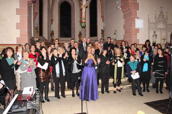Gospelworkshop mit Da Capo, Gesangverein Frohsinn 1873 Wernborn, in Usingen-Wernborn 2015