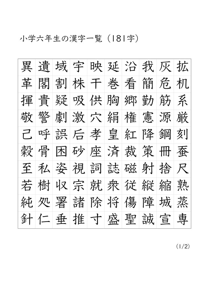 出展・Quelle: http://www.kanji1006.com/ (auf Bild klicken)