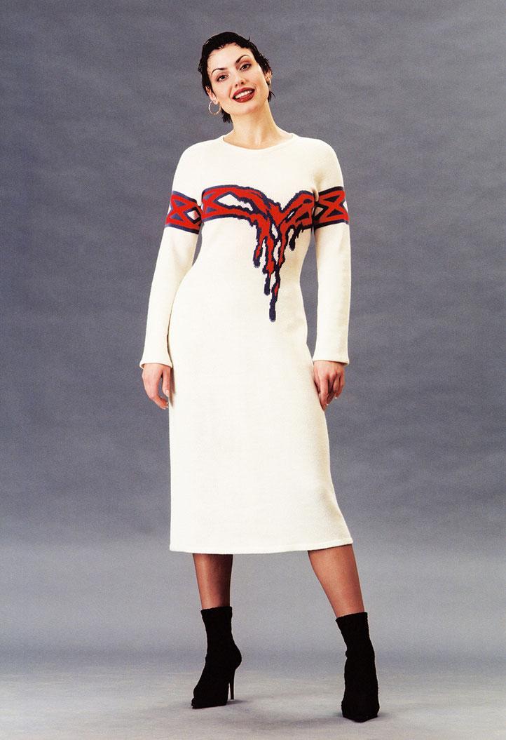 """Alexander Seraphim's knitwear, """"Hot Heart"""", 1999"""