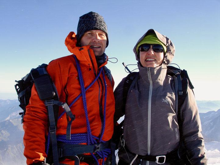 Denise und Daniel auf dem Mont Blanc 4810m