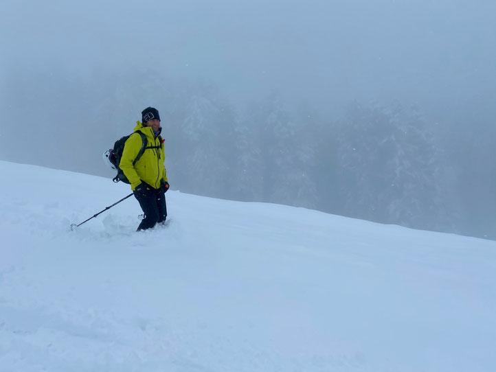 Daniel Fritschi Skitour auf der Egg