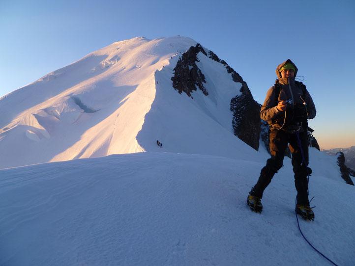 Denise Sigg auf dem Mont Blanc 4810m