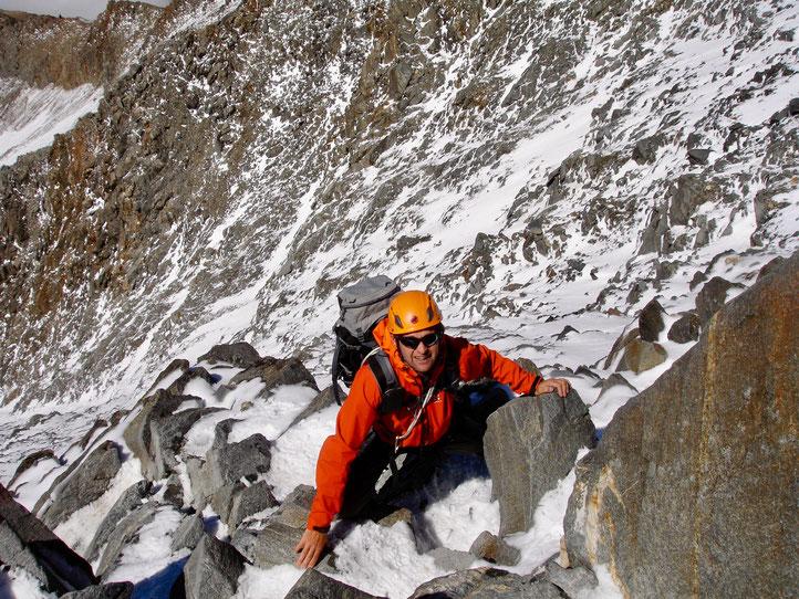 Daniel Fritschi auf dem Mont Blanc 4810m