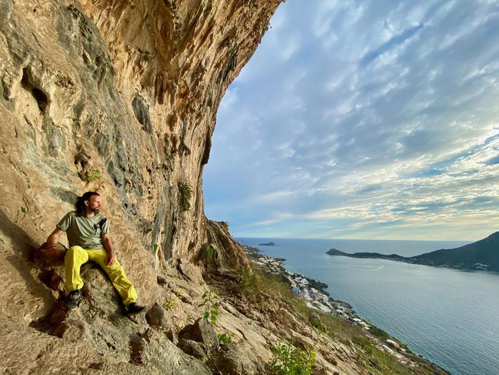 Klettern auf Kalymnos 2021, Grande Grotta, Daniel Fritschi