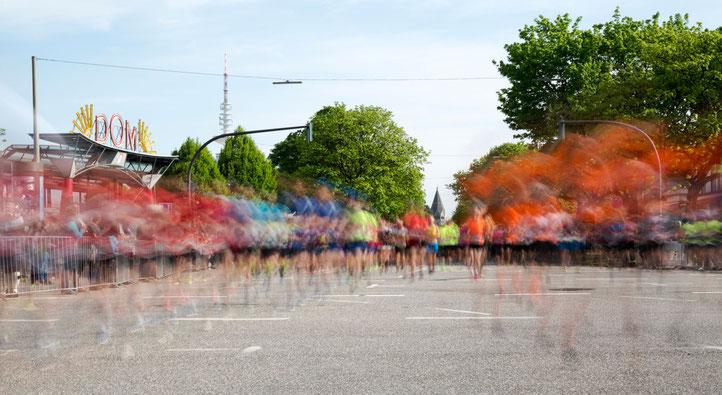 Start zum HASPA Marathon 2018