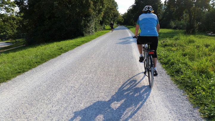 Mit den immer länger werdenden Schatten geht es wieder in Richtung Bad Abbach...