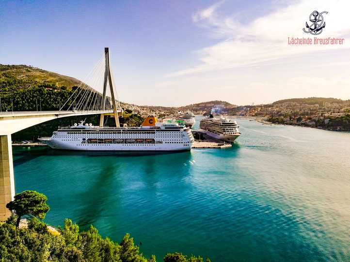 Lächelnde Kreuzfahrer laechelndekreuzfahrer seadventure Dubrovnik Kings Landing Cruiseship Cruiseships Costa AIDA AIDAblu