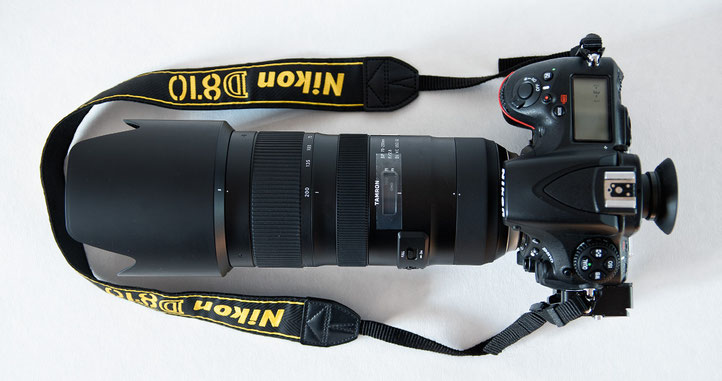 Tamron 70-200mm f/2.8 VC USD G2 an Nikon D810.