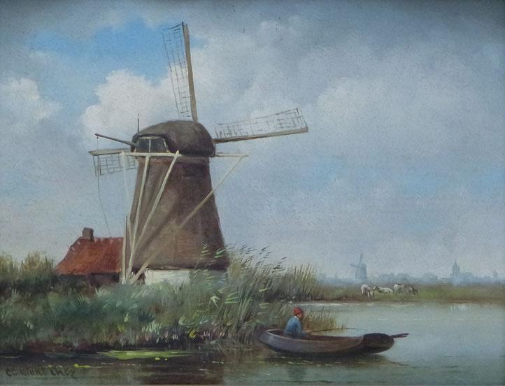 te_koop_aangeboden_een_schilderij_van_de_nederlandse_kunstschilder_constant_artz_1870-1951_nabloei_haagse_school