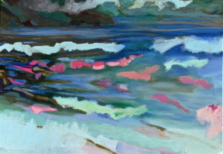 Ohne Titel, 2016 Acryl auf Leinwand 80x115