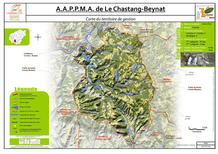 Territoire AAPPMA du Chastang-Beynat