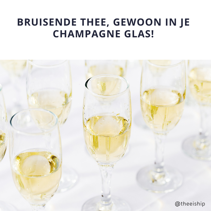 Recept bruisende champagne thee by Thee is Hip!