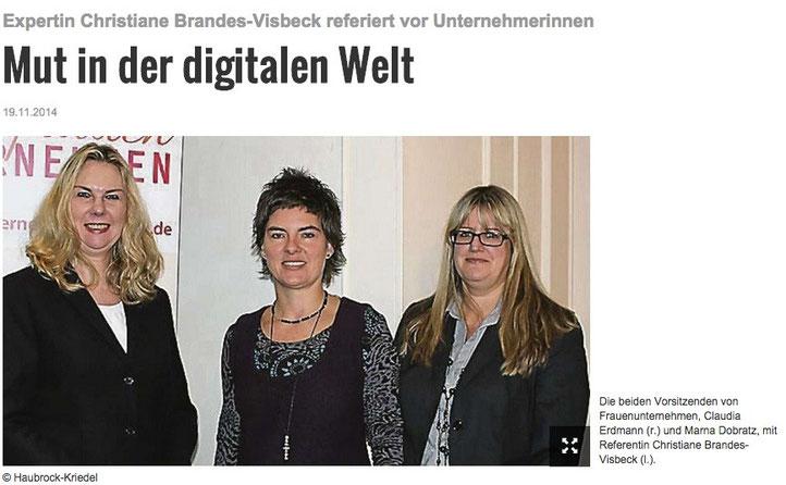 Kreiszeitung Verden vom 19.11.2014