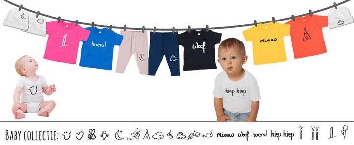 baby kleding bedrukt rompers mutsjes broekjes en t-shirts