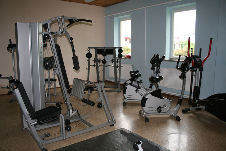 Der Fitnessraum 2007 nach seiner feierlichen Übergabe