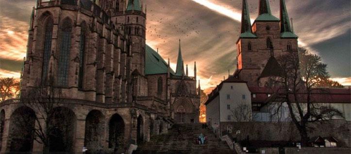 Erfurt - Blick auf die Domstufen