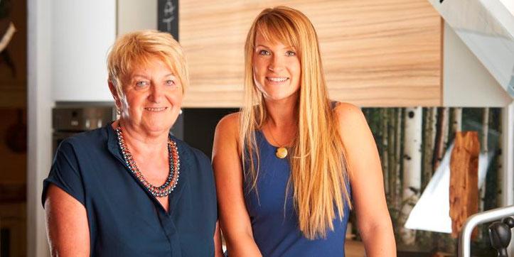 Unser Team: Frieda Wiesinger und Désirée Dietz