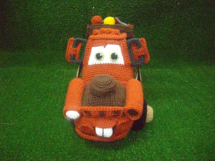 coche de cars Mater amigurimi