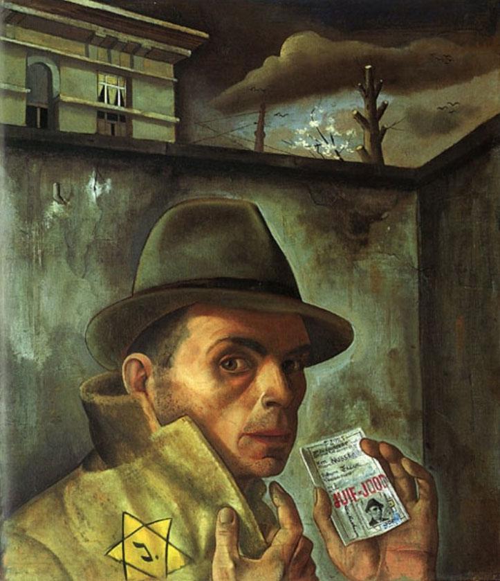 Félix  Nussbaum - 1943 (Autoportrait au passeport juif)