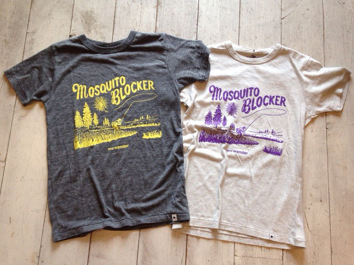 and wander(アンドワンダー)mosquit blocker T ¥7,020(税込)