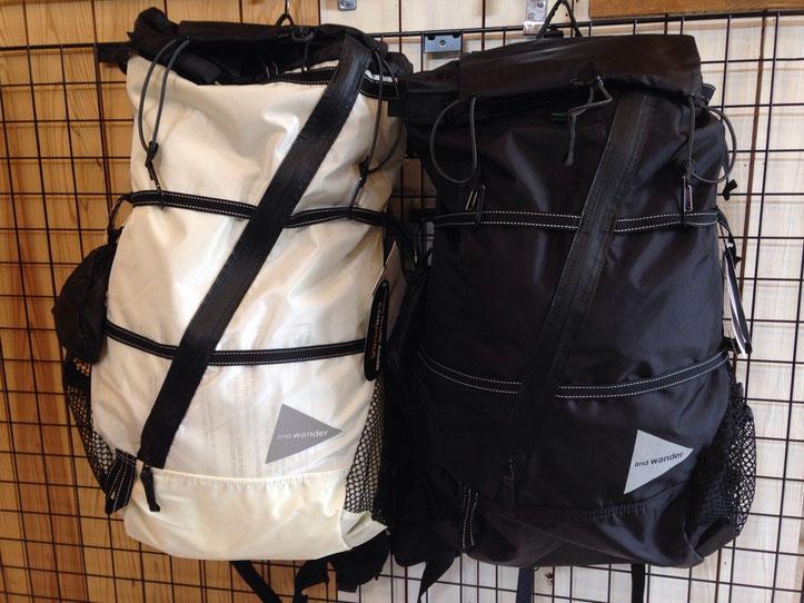 and wander(アンドワンダー)40L backpack ¥36,720(税込)