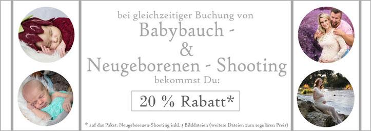Neugeborenenfotoshooting, Babybauchfotoshooting, Sonderangebot, Kombirabatt, Rabatt