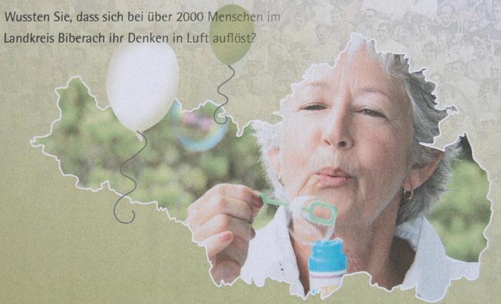 Postkarte anlässlich des Weltalzheimertags 21.9.2010 in Biberach