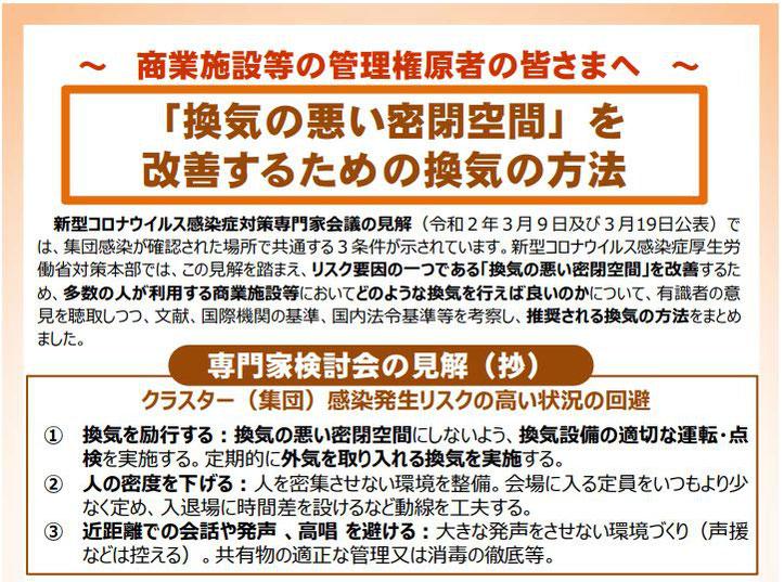 美容室プロロコロナ対策厚生労働省推奨換気方法画像1