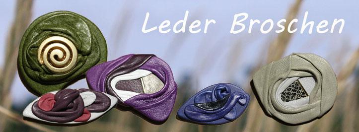 Lederborsche | Leder Broschen | einzigartige modische moderne Lederbroschen |  Broschen aus  Leder | www.blaser-design-bern.ch