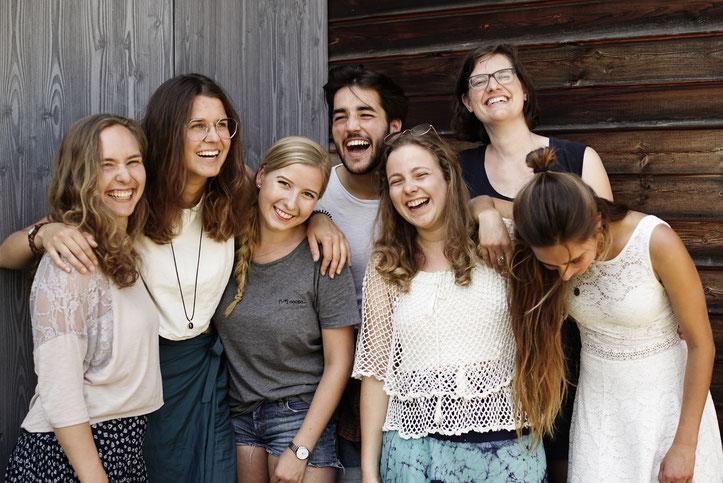 von links nach rechts: Malika, Noemi, Nele, David, Linda, Anna, Priska, Isabelle  und Lina  (beide nicht auf dem Bild)