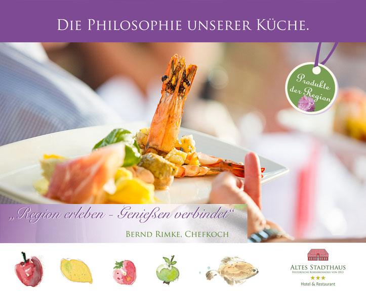 Genuss frischer und regionaler Produkte visualisiert mit Aquarellen von Mareike Wylenzek-Knetemann