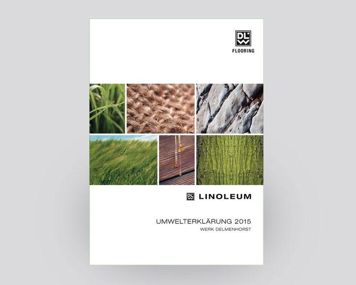 Linoleumwerk in Delmenhorst stellt die Linoleumproduktion vor. Daten, Fakten und Ziele. Inhalt 32 Seiten..