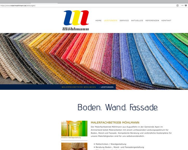 Erstellung der neuen Homepage. Konzept. Bildsprache. Text. SEO.