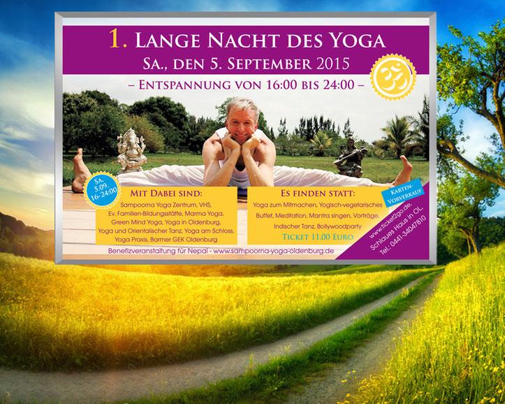 Die Lange Nacht des Yoga bietet die Möglichkeit, viele Yoga Studios in Oldenburg kennen zu lernen.