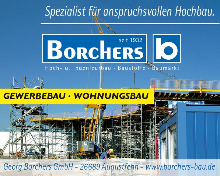 Georg Borchers Bauunternehmen. Image-Anzeige Gewerbebau.