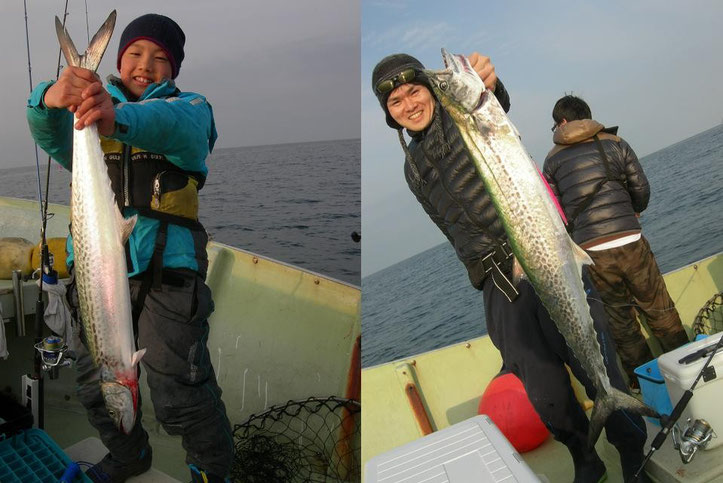 右サワラは2枚目写真と同じ魚