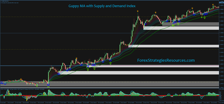 Guppy MA with Supply and Demand Index