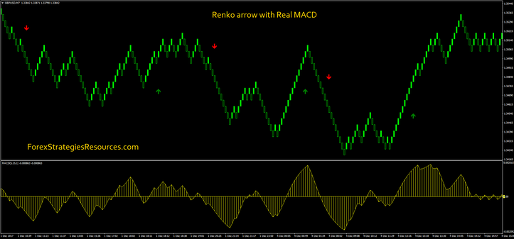 Renko arrow with Real MACD
