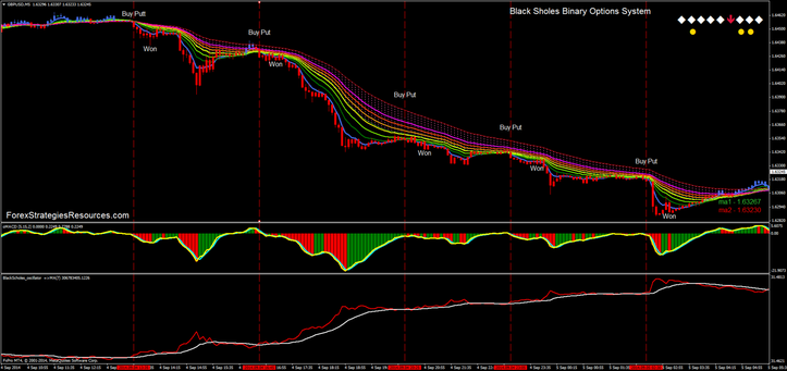In the picture  Black-Scholes Binary Options high/Low strategy. Template good also for trading withot Binary Options.