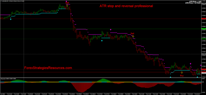 ATR stop and reversal professional in action.