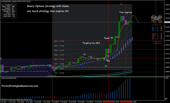 Binary  Options One Touch 240 min expires