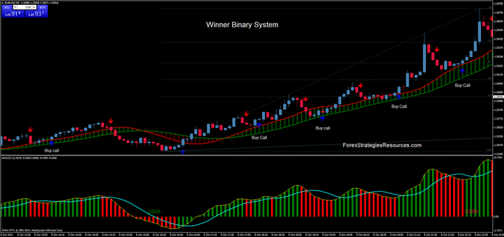 Winner Binary System ( EUR/USD 5 min time Frame)