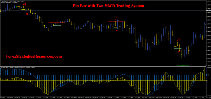 Pin Bar with Two MACD Trading System