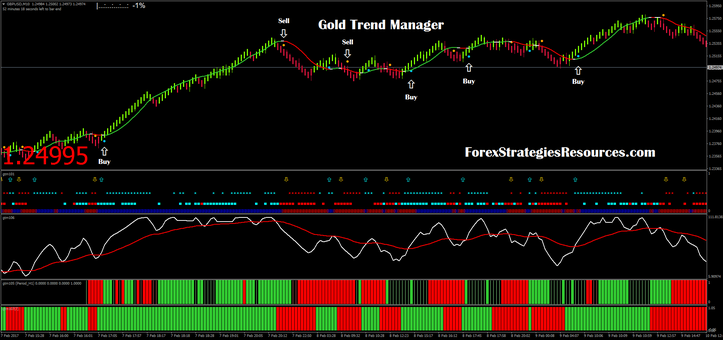 Golden Trend Manager with renko chart