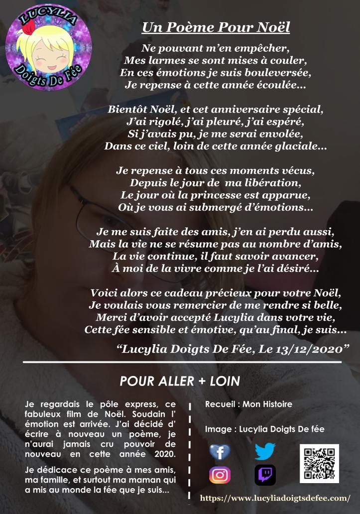 Poème un poème pour Noël écrit par Lucylia Doigts De Fée, recueil mon histoire, spécial Lucylia