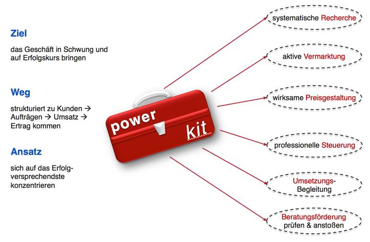 Power Kit für (junge) Unternehmen: Ziel - Weg - Ansatz