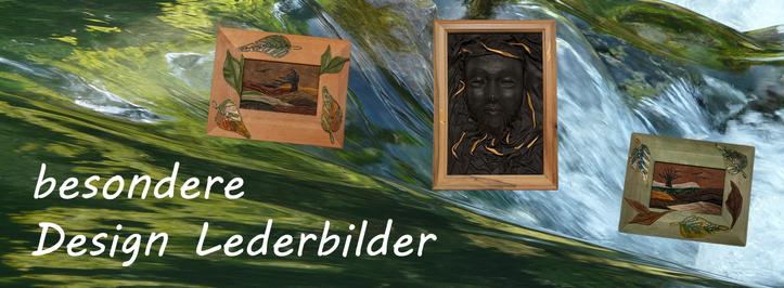 Plastische Lederbilder mit Goldfarbe | vergoldete Design Lederbilder | www.blaser-design-bern.ch