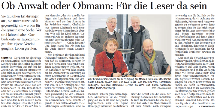 Freie Presse (Silvester 2014)