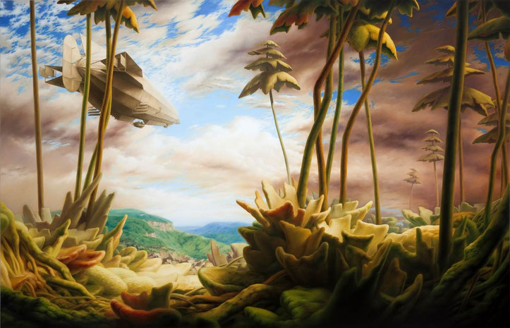 Auf großer Fahrt, 2014, Öl auf Leinwand, 180 x 280 cm