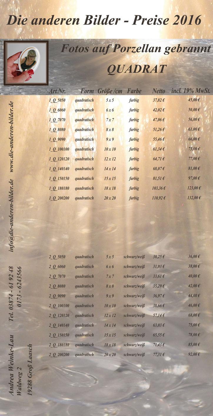 Die anderen Bilder, Grabbild, Porzellanbild, Andrea Weinke-Lau aus Groß Laasch,  Fotos auf Porzellan gebrannt, Grabbilder, Porzellanbilder, für den Tiergrabstein, Schmuck aus Porzellan, Fliesen für Bad o. Küche, Wände o. Geschirr